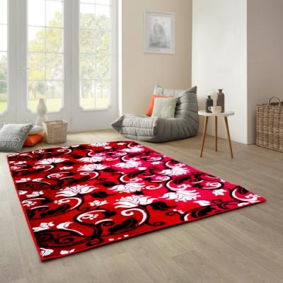 范登伯格 - 天王星 立體層次現代地毯 - 緋紅 (140 x 200cm)