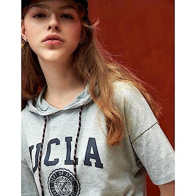 CACO-UCLA連帽洋裝(兩色)-女【TAR021】