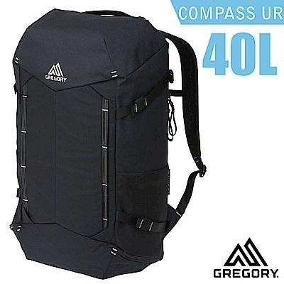 美國 GREGORY Compass UR 40L 全開式減震透氣登山後背包_黑/碳
