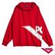 【PONY】長袖大LOGO連帽大學T恤 情侶款 帽T T恤 男女款 紅 product thumbnail 1