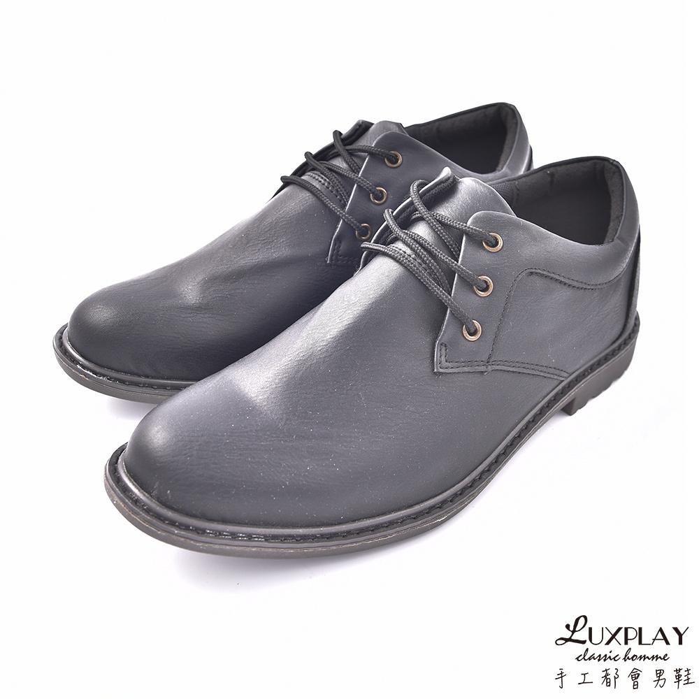 LUXPLAY  男款 紳士渲染 噴墨 休閒鞋 K9905黑 @ Y!購物