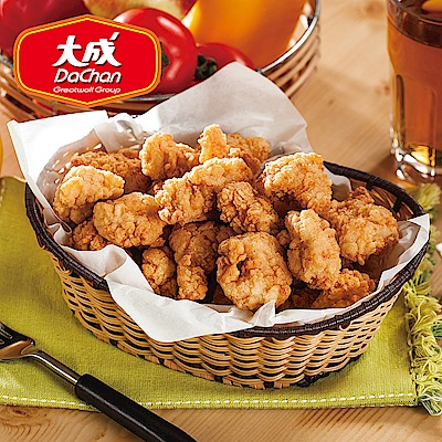 【大成-雞本享受】勁爆香脆雞米花 * 4 包組( 1 kg/超值勁量包)