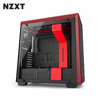 NZXT恩傑 H700 MID-TOWER CASE 電腦機殼/鋼化側透玻璃-黑紅