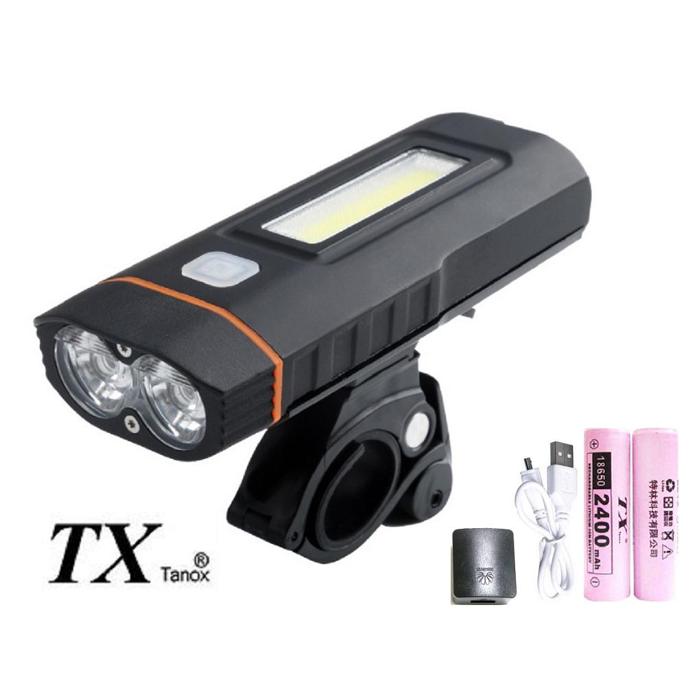 TX特林雙T6LED 科技新款直充式自行車燈(T-BK55)