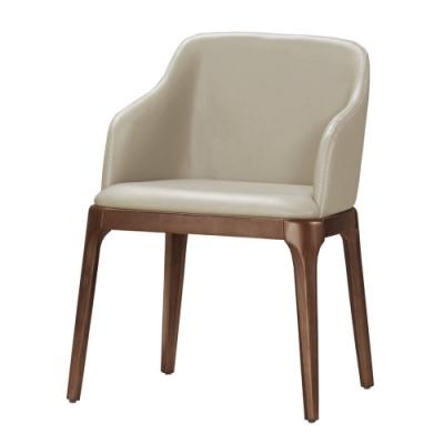 MUNA 奧斯汀餐椅(皮)(實木)(1入)  57.5X54X77cm