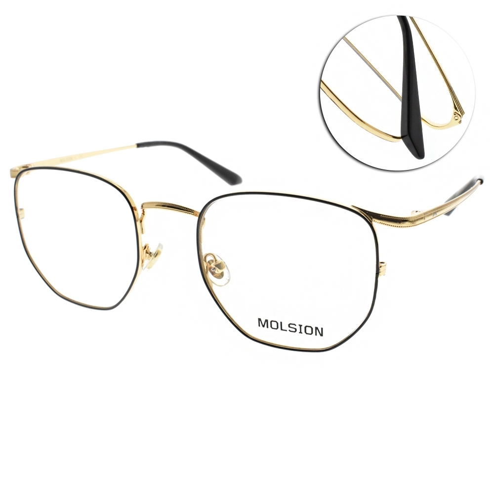 MOLSION 光學眼鏡 Angelababy代言 黑-金 #MJ7082 B12