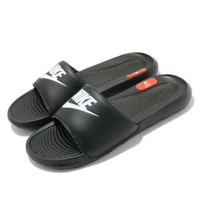Nike 拖鞋 Victori One Slide 套腳 女鞋 基本款 舒適 簡約 大logo 穿搭 黑 白 CN9677005