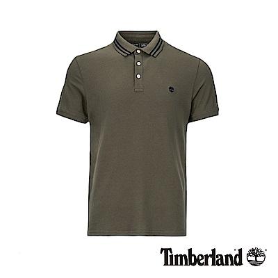 Timberland 男款葡萄葉綠色彈性修身短袖POLO衫|A28AG