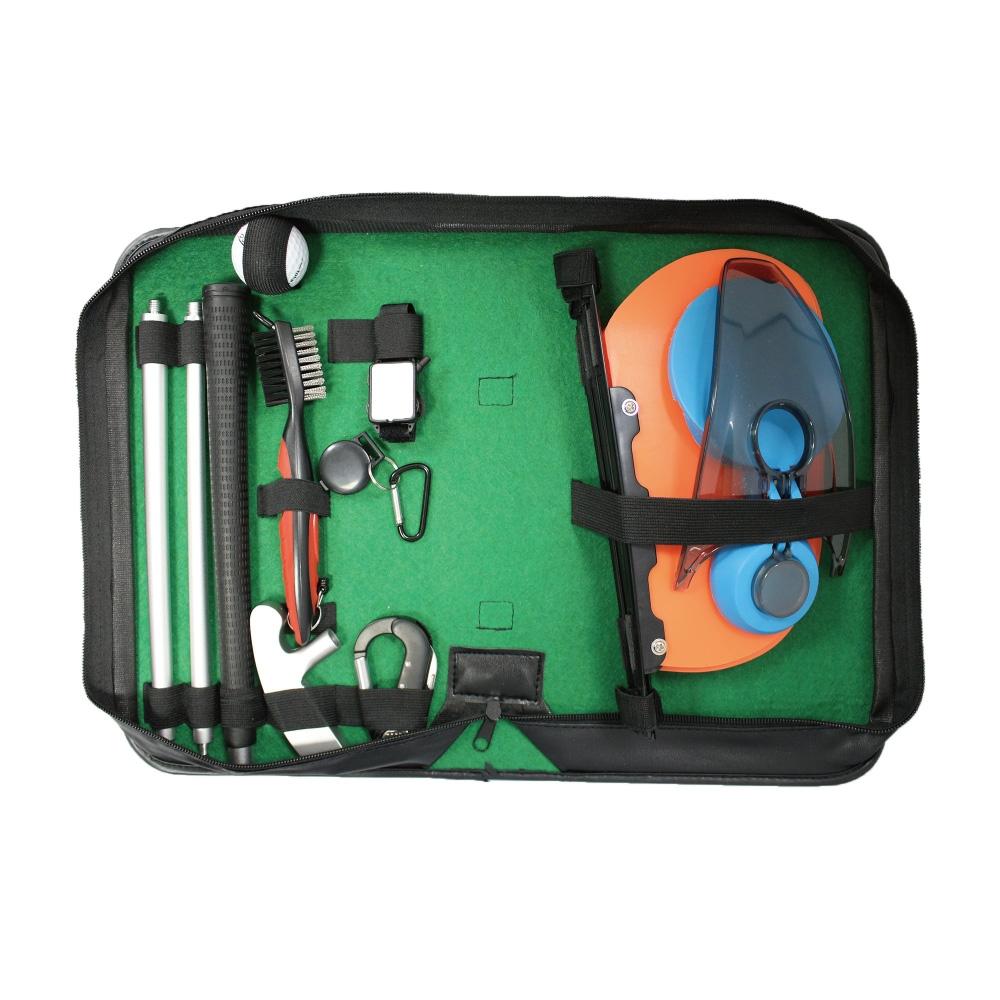 高爾夫雙面推桿訓練 特色推桿訓練器 禮品套組 附PU皮包 GSP040