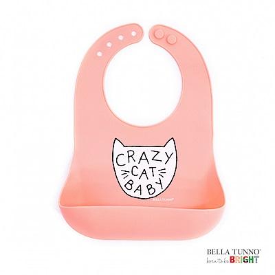 美國 BELLA TUNNO 寶寶矽膠圍兜兜 (我是瘋狂小貓咪)
