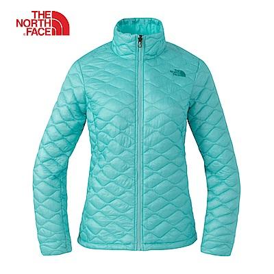 The North Face北面女款綠色防潑水保暖外套 3L97N2P