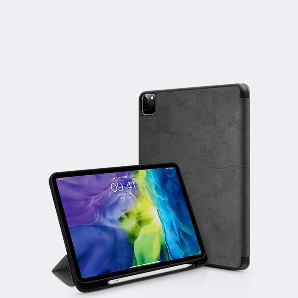 Apple iPad Pro 11吋(2020) 商務帆布平板皮套 內置筆槽 防震保護殼套 product image 1