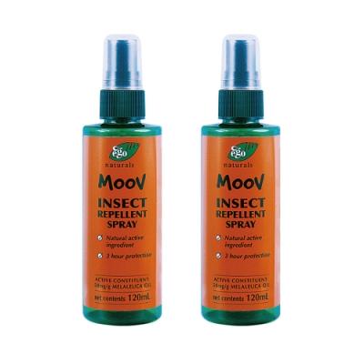 (即期品)[買一送一 ] ego意高 MOOV茶樹精油防蚊噴霧液 120ML 共2入  (效期至2021/02/01)