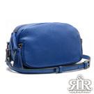 2R 荔紋牛皮Double斜背雙層拉鍊包 深寶藍
