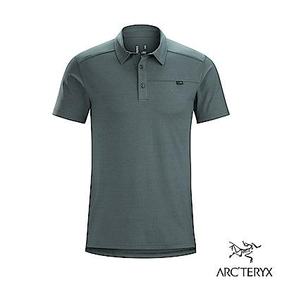 Arcteryx 始祖鳥 男 Captive 吸濕排汗 短袖POLO衫 海王星