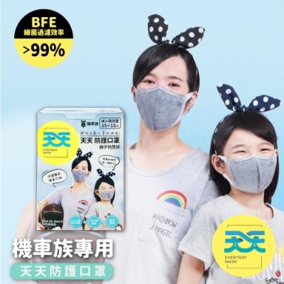 【天天機車族專用親子口罩】成人+兒童尺寸(15+15入/盒)