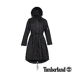 Timberland 女款黑色軍裝可拆式連帽派克大衣|B3104