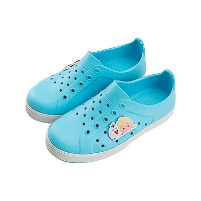 迪士尼童鞋 TsumTsum 冰雪奇緣 防水休閒鞋-水藍