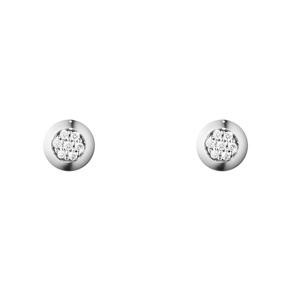 Georg Jensen 喬治傑生- AURORA 鑽石18 K 白金耳環