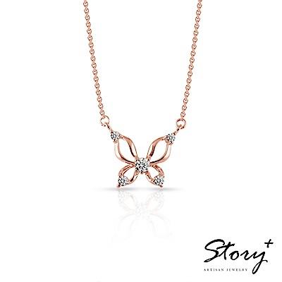 STORY-玫瑰情緣系列-飛舞 純銀項鍊