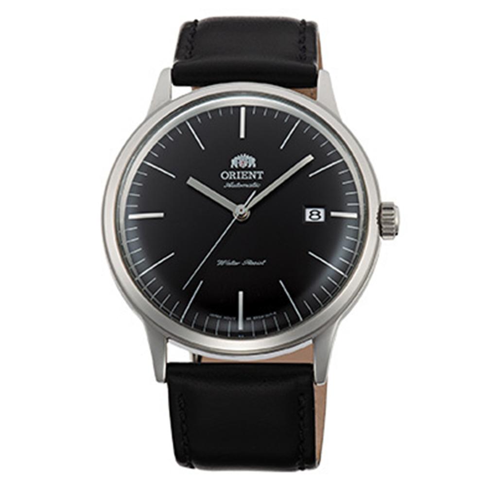 ORIENT  DATEⅡ 醇黑簡潔手動上鍊機械腕錶(FAC0000DB0)-黑x40mm