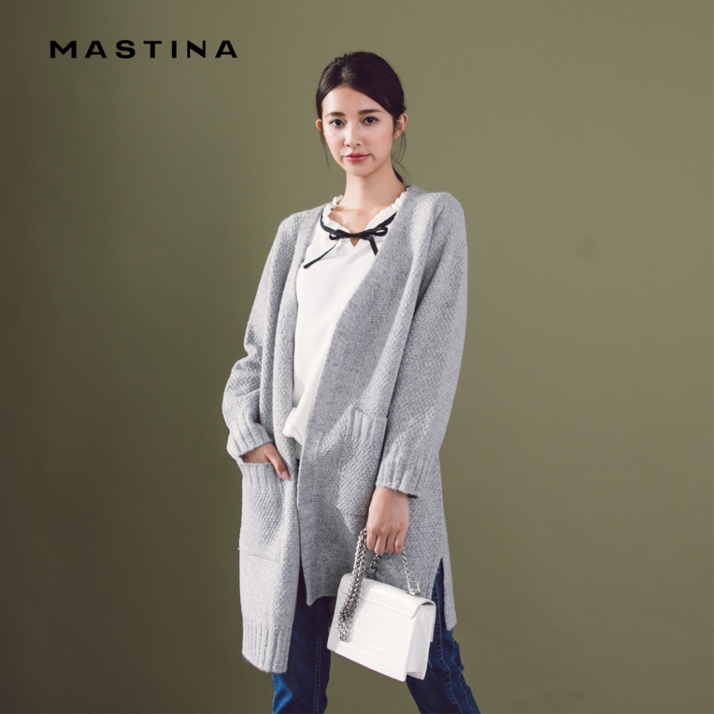 【MASTINA】MIT台灣製造開襟領口造型-針織衫(三色)