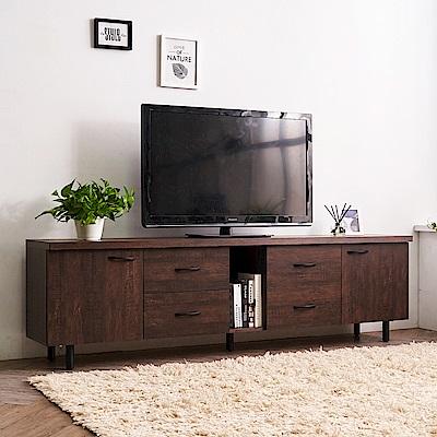 時尚屋 路恩西7尺電視櫃  寬211x深39.5x高61cm