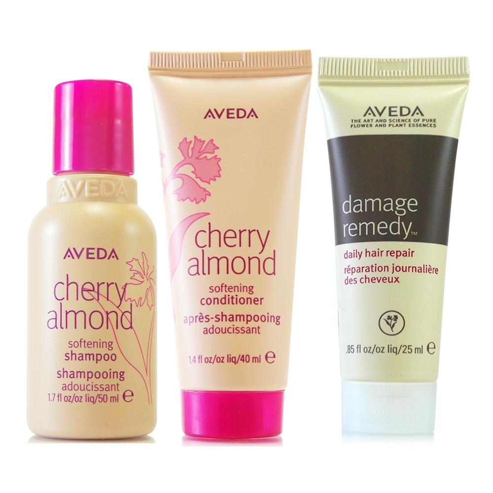 AVEDA 甜馨洗髮精50ml+甜馨潤髮乳40ml+復原配方修護精華25ml