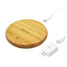 j5create 10W木紋無線充電盤-JUPW1101W