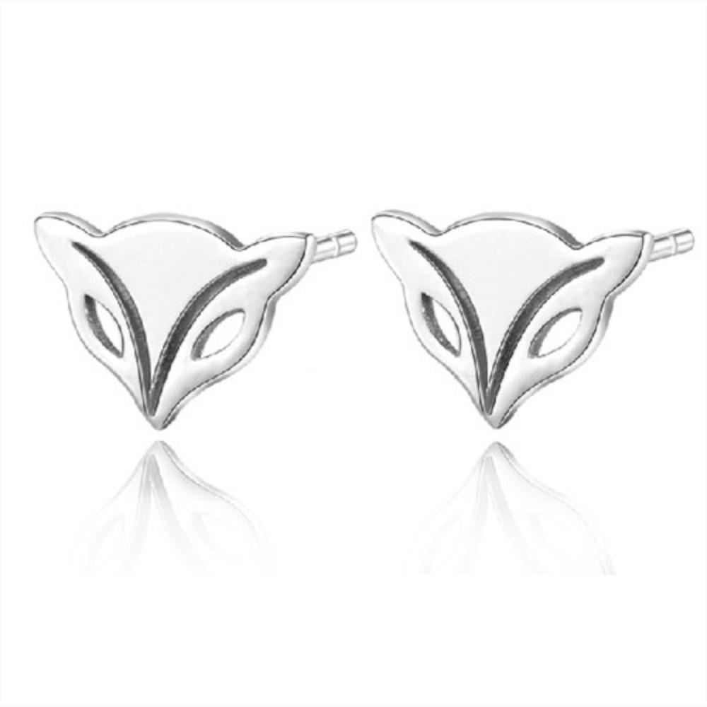 I-Shine-狐狸魅力-正白K-招桃花狐狸頭造型耳環AH12