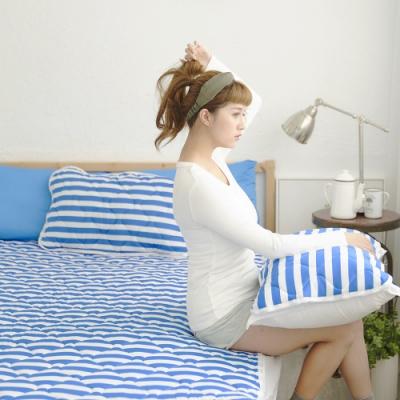 Adorar 平單式針織親水涼感墊-雙人加大(藍)