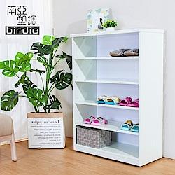 Birdie南亞塑鋼-2.2尺開放式五格收納櫃/置物櫃/鞋櫃-白色-66x33x100cm