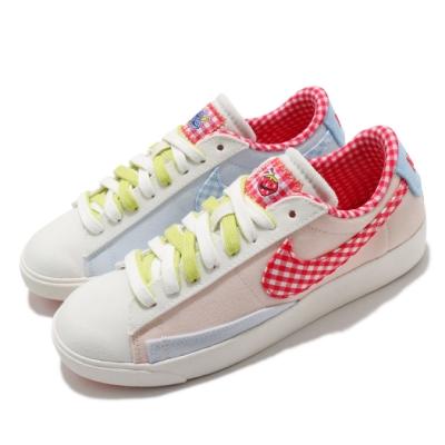 Nike 休閒鞋 Blazer Low LX 運動 女鞋 基本款 簡約 舒適 帆布 拼接 穿搭 米白 粉 DJ5055806