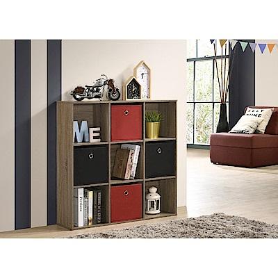 TC home 九宮格收納盒櫃--淺橡木色