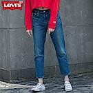Levis 女款 501 中腰排扣直筒牛仔長褲 彈性布料