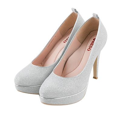BESO 幸福閃耀 2way腳踝飾帶防水台高跟鞋~銀
