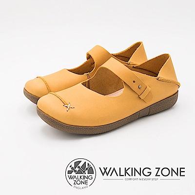 WALKING ZONE 極致柔軟可踩腳式懶人休閒女鞋-棕(另有藍)