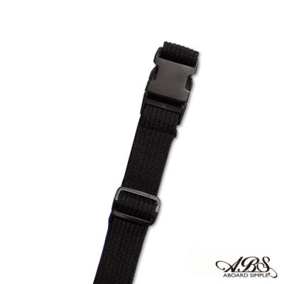 ABS愛貝斯 台灣製造旅行箱束帶單入 捆綁帶 可調式行李打包帶(黑紫)66-058D3