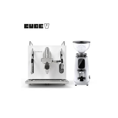 SANREMO CUBE V 單孔半自動咖啡機 110V - 白 + Fiorenzato AllGround 磨豆機 110V 北極白(HG7292WH+HG1508)