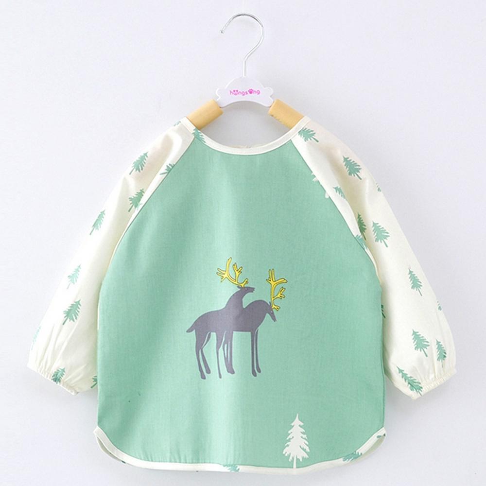 Baby童衣 寶寶吃飯罩衣 嬰兒純棉長袖畫畫衣 防潑水圍兜 88037 product image 1