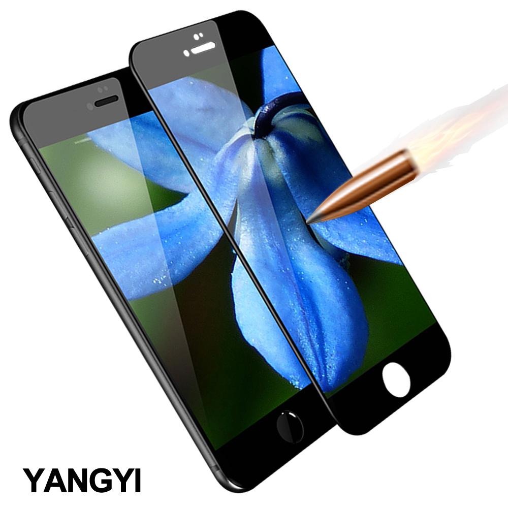 揚邑 iPhone6/6s Plus 5.5吋 滿版軟邊鋼化玻璃膜3D防爆抗刮保護貼-黑