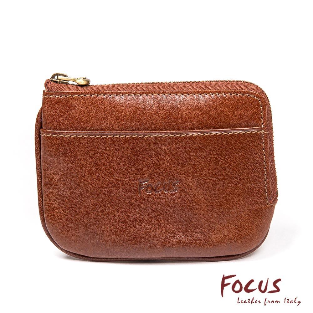 FOCUS經典原皮鑰匙零錢包(FTA0088)