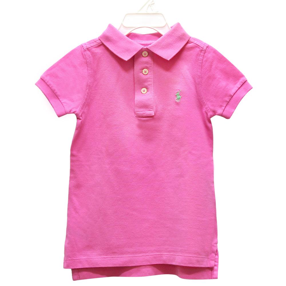 Ralph Lauren 童裝經典刺繡小馬短袖POLO衫-粉紅色(4歲)