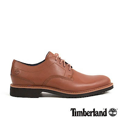 Timberland 男款中咖啡色皮革淺口鞋