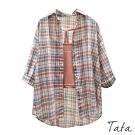 格紋長袖襯衫外罩 TATA-F