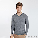 GIORDANO 男裝基本款簡約素色針織衫-10 雙絞青灰