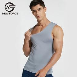 NEW FORCE 無痕冰絲涼感背心-灰色