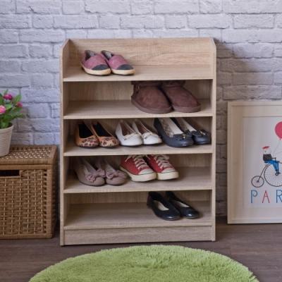 TZUMii艾拉開放式五層鞋櫃-淺橡木色60*30*80.1cm