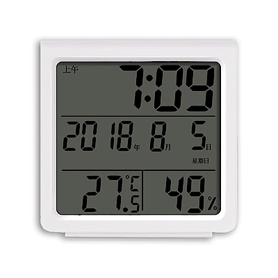 RITERS多功能溫濕度計時鐘RT-S8