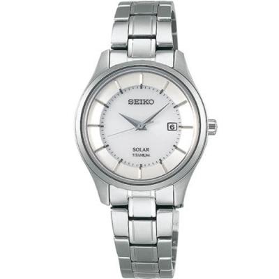 SEIKO精工 SPIRIT 太陽能鈦輕簡約腕錶(V137-0CS0S/STPX041J)